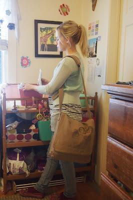 handdrawnmushroomdesignbag - Works Great as a Diaper Bag