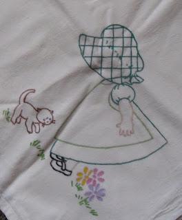 "Vintage Liquid painted 28"" x 29"" 100% cotton"