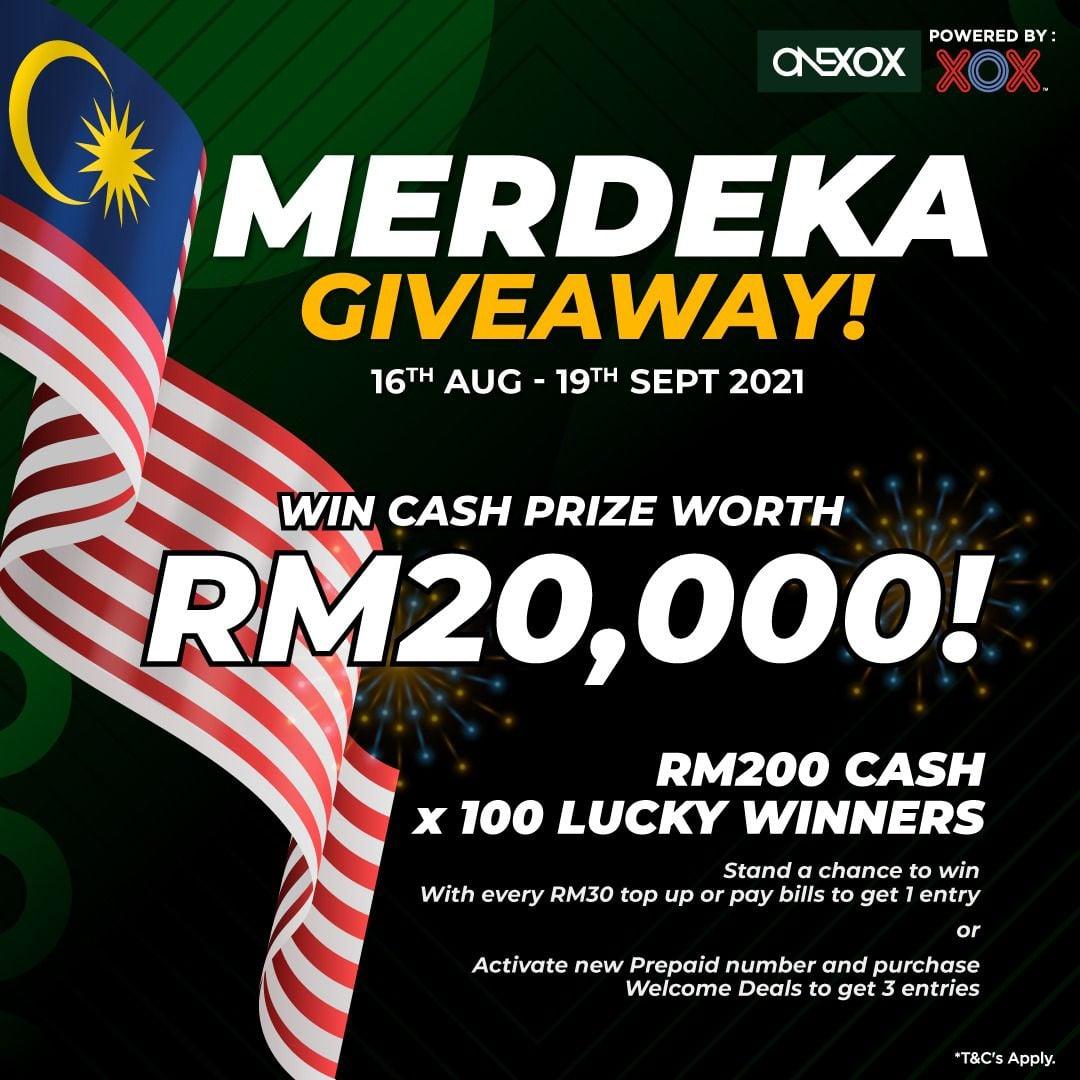 Onexox Merdeka Giveaway