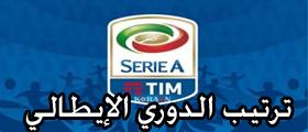 ترتيب الدوري الايطالي 2020