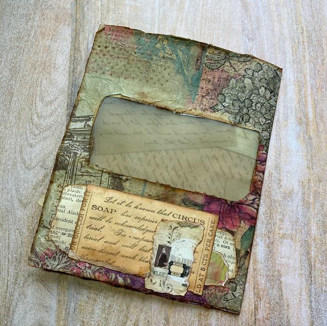 Vintage Days Junk Journal Altered Envelope