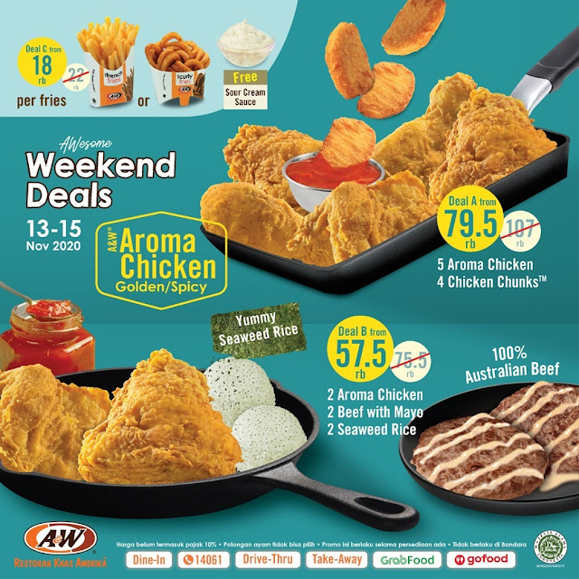 #AW - #Promo AWESOME Weekend Deals Periode 13 - 15 Nov 2020