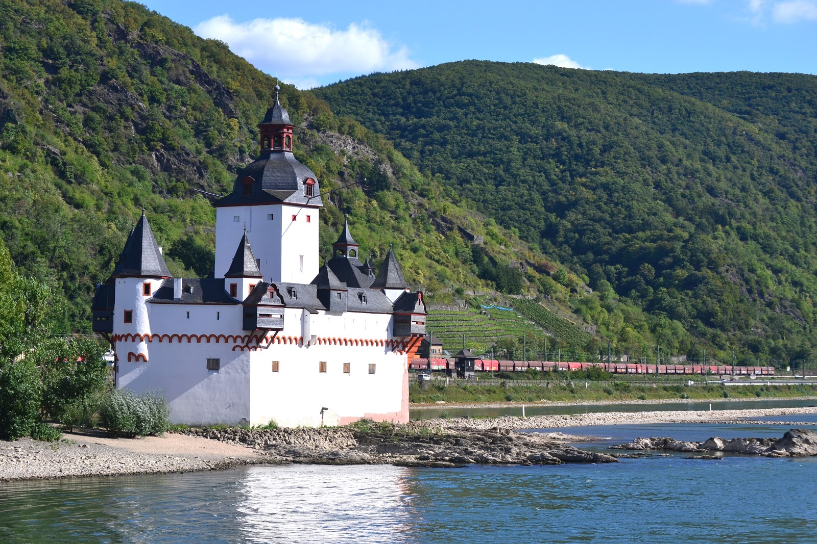 Pfalzgrafenstein Castle aka the Stone Ship resembles a passing steamer on the river.