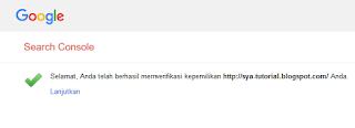 Cara Verifikasi Ulang situs/Blog Ke webmaster Tools