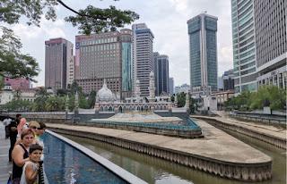 Mezquita Masjid Jamek de Kuala Lumpur. Malasia.