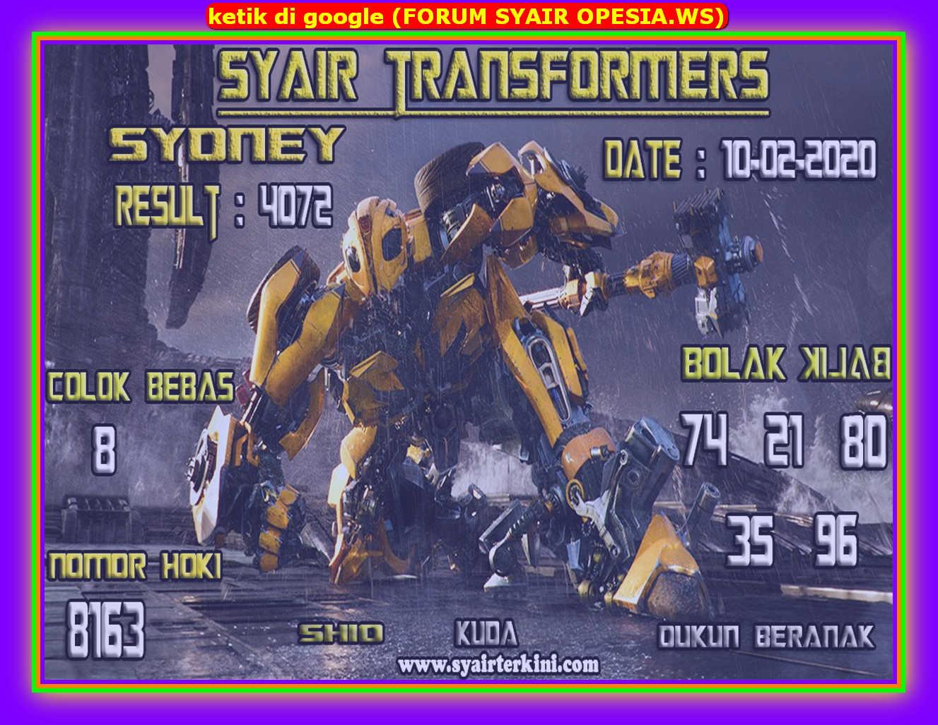 Kode syair Sydney Senin 10 Februari 2020 51