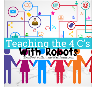 When thinking about teaching 21st century skills, the 4 C's are the pedagogy that come to mind. The 4 C's stand for Critical Thinking, Collaboration, Creativity, and Communication. I have a favorite activity in the computer lab that works on all 4 C's at once - Unplugged Coding.