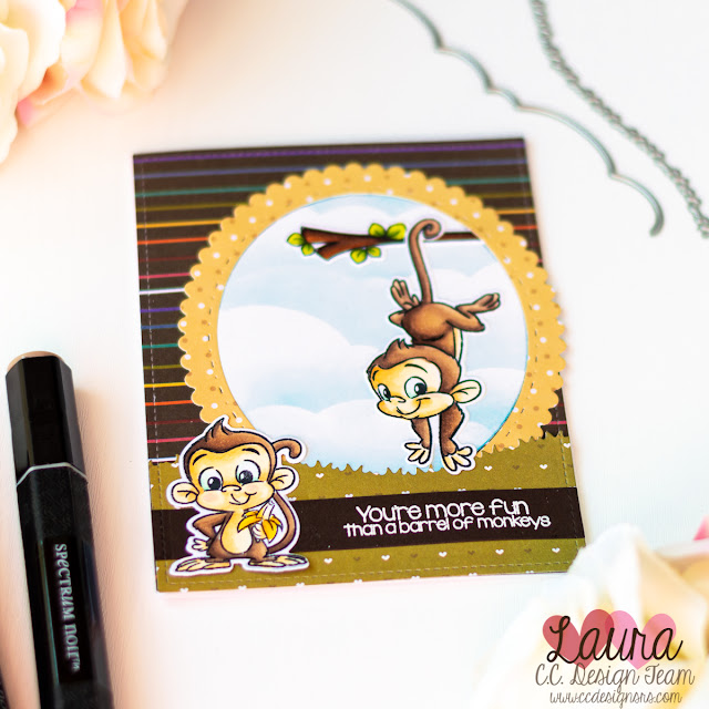 Friendship Card with C.C. Designs Monkeys