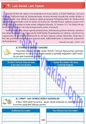 8. Sınıf İnkılap Tarihi Top Yayınları Çalışma Kitabı Cevapları Sayfa 55