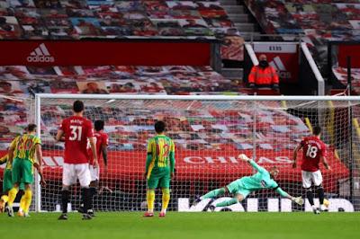 ملخص وهدف فوز مانشستر يونايتد على وست بروميتش (1-0) الدوري الانجليزي