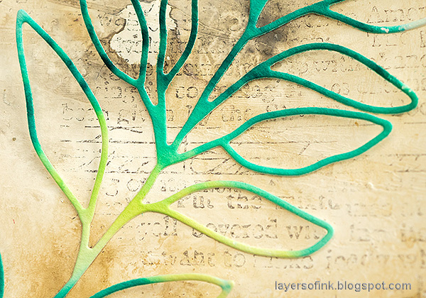 Layers of ink - Happy Art Journal Page Video Tutorial by Anna-Karin Evaldsson. SSS Leafy Branch.
