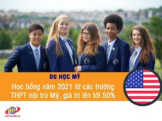 Du học Mỹ: Học bổng năm 2021 từ các trường THPT nội trú Mỹ, giá trị lên tới 50%