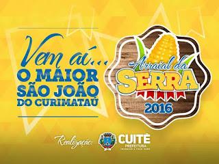 Confira programação oficial do Arraial da Serra 2016 em Cuité