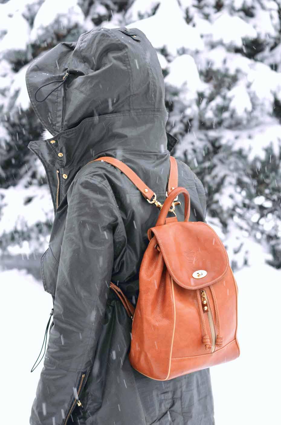 Warm Vintage Leather Backpack