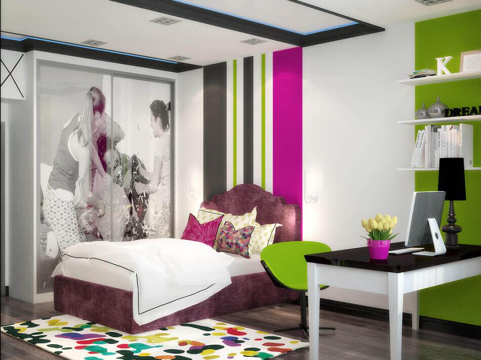 افكار ديكورات غرف نوم بنات كيوت بالصور