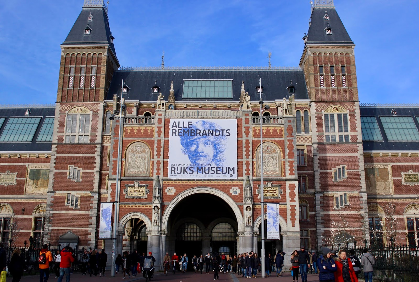 An image of the Rijksmuseum in Amsterdam