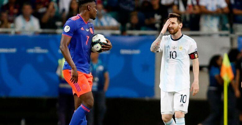مباراة الارجنتين وكولومبيا في تصفيات كاس العالم امريكا الجنوبيه