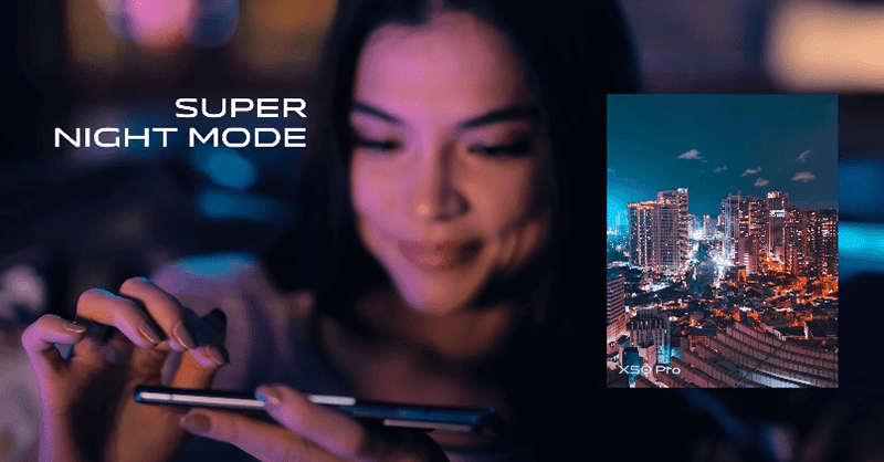 vivo X50 introduced its gimbal technology and Super Night Mode