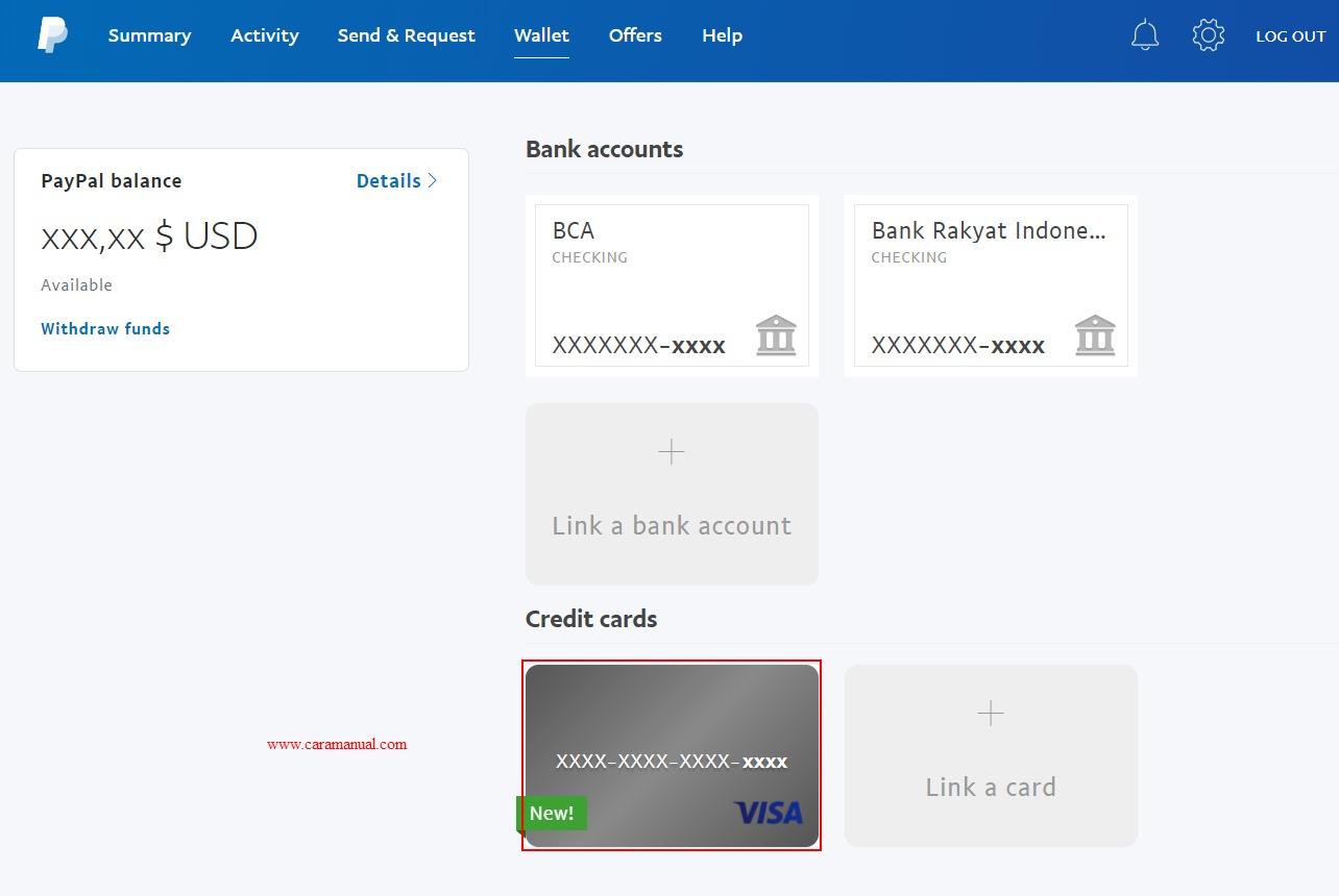 Kartu Jenius Berhasil di Tambahkan ke Akun Paypal