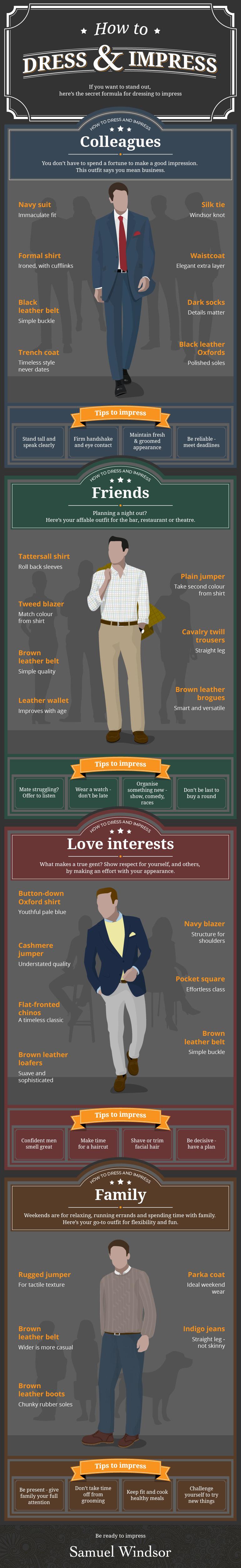 How To Dress and Impress #infographic #Men Fashion #Fashion #Dress #Impress