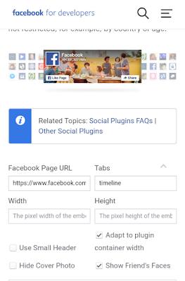 Facebook developers plugin page