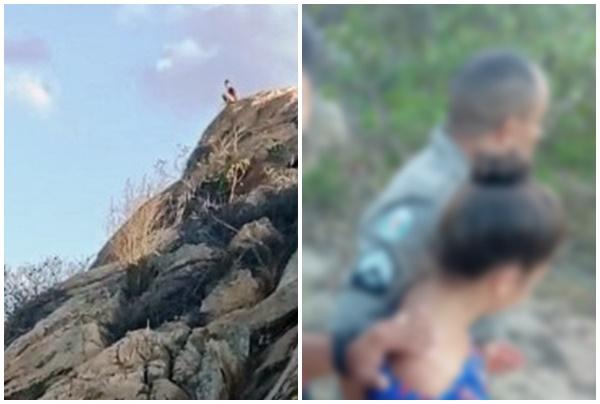 Em Teixeira, adolescente de 16 anos tenta suícidio e policial convence a desistir de pular de precipício