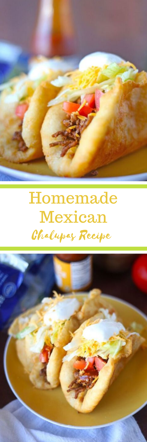 Homemade Mexican Chalupas Recipe #recipe #dinner #easy #homemade #lunch