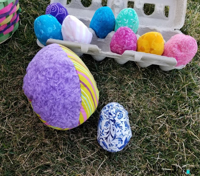 quilted fabric easter egg pattern
