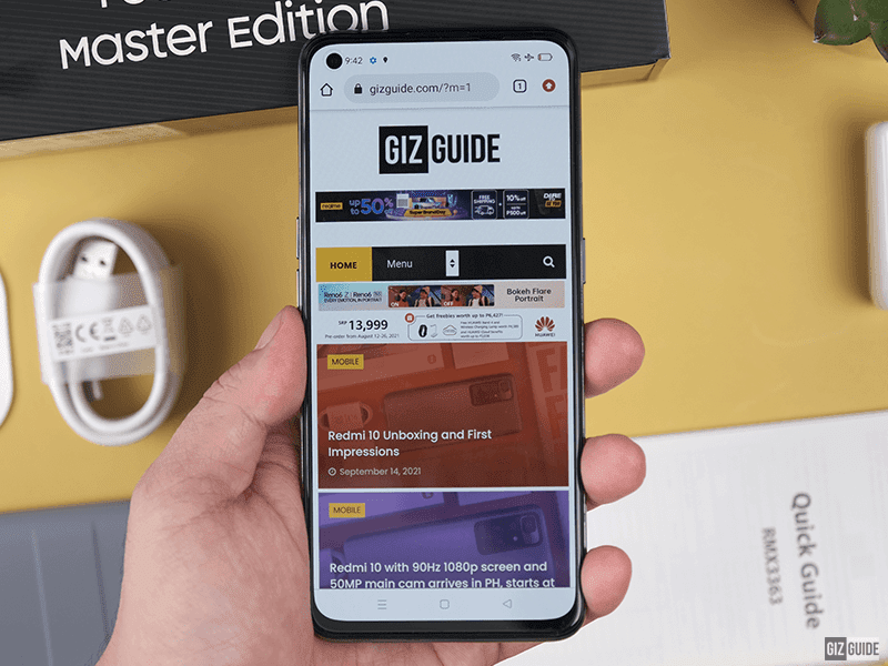 realme GT Master Edition using Chrome