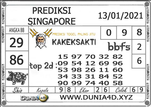 Prediksi Togel SINGAPORE DUNIA4D 13 JANUARI 2021