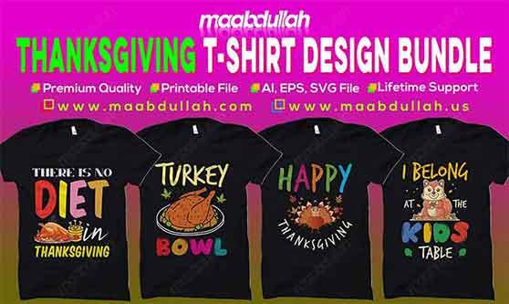 Thanksgiving t-shirt design bundle 2020