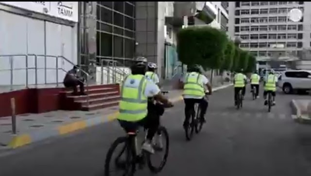 DED Abu Dhabi launches the bicycle patrol initiative to monitor and inspect stores