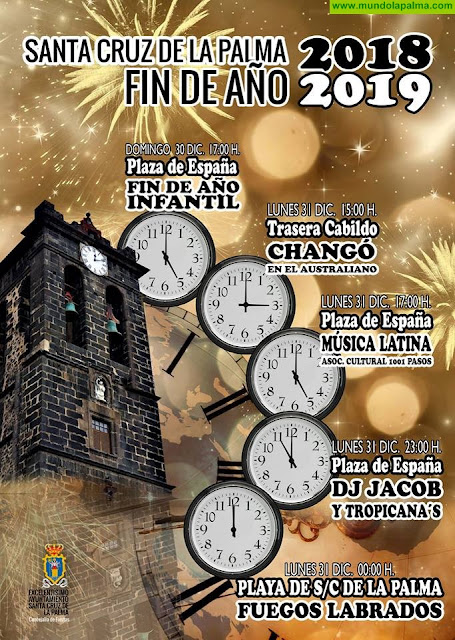 El Ayuntamiento de Santa Cruz de La Palma invita a disfrutar del amplio programa festivo preparado para recibir 2019