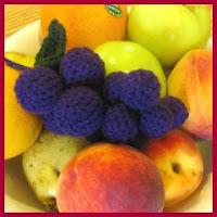 Racimo de uvas amigurumi