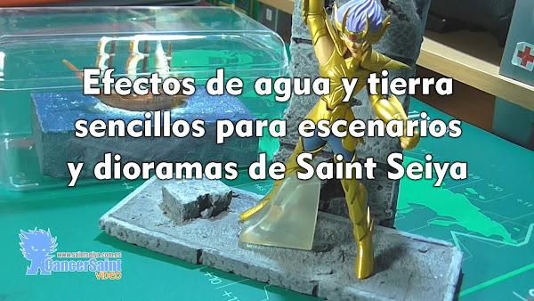 Efectos de agua y tierra sencillos para escenarios y dioramas de Saint Seiya