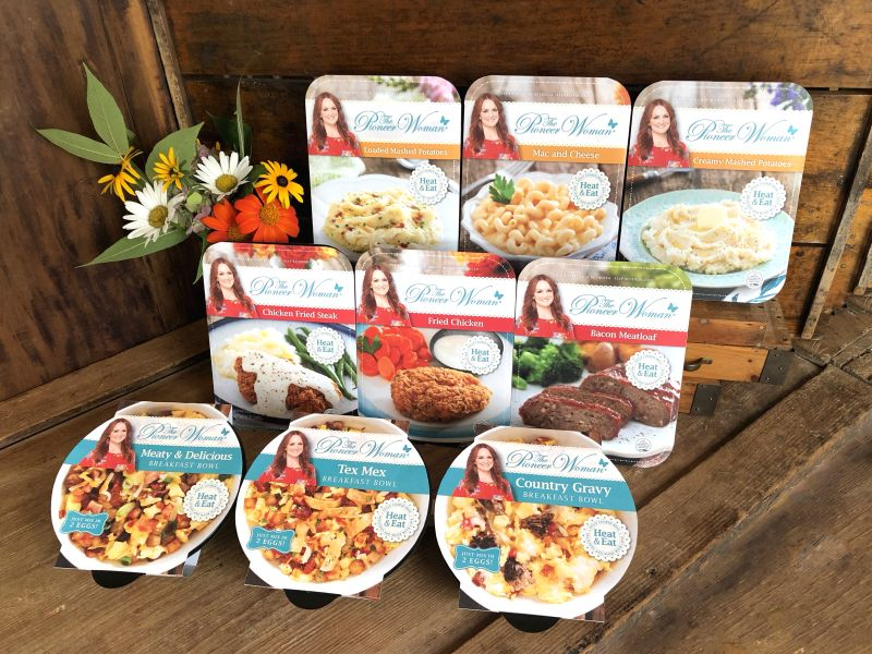 The Pioneer Woman Line Of Entree And Sides Lands Exclusively At