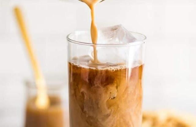 Skinny Iced Caramel Macchiato #coffee #drinks