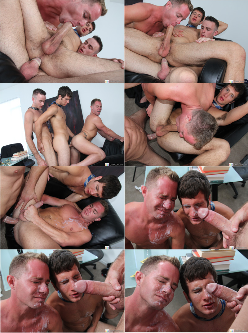 Office Cock Threesome   Executivos pauzudos em ação
