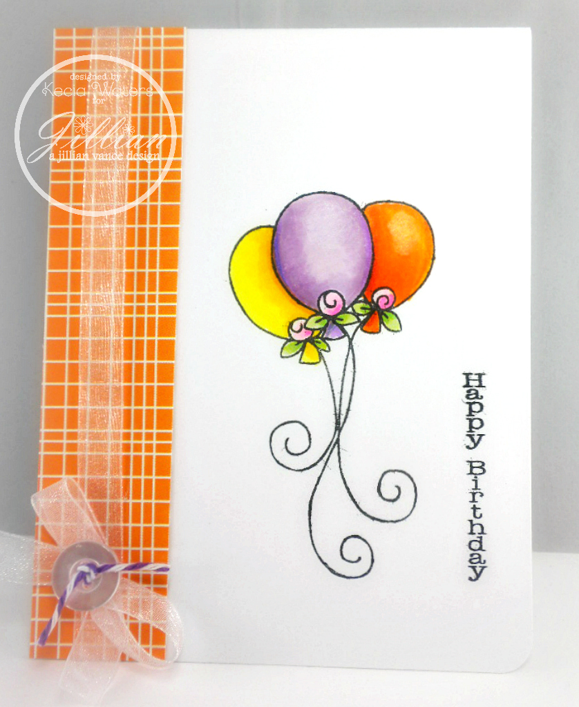 A Jillian Vance Designs, AJVD, Birthday Icons, Becky Schultea, Kecia Waters, Copic markers