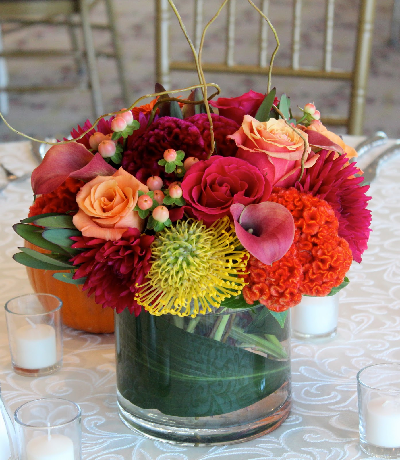 Wedding Flower Center Pieces: Allison Phalen Floral Design: Coreen & Brian: Granite