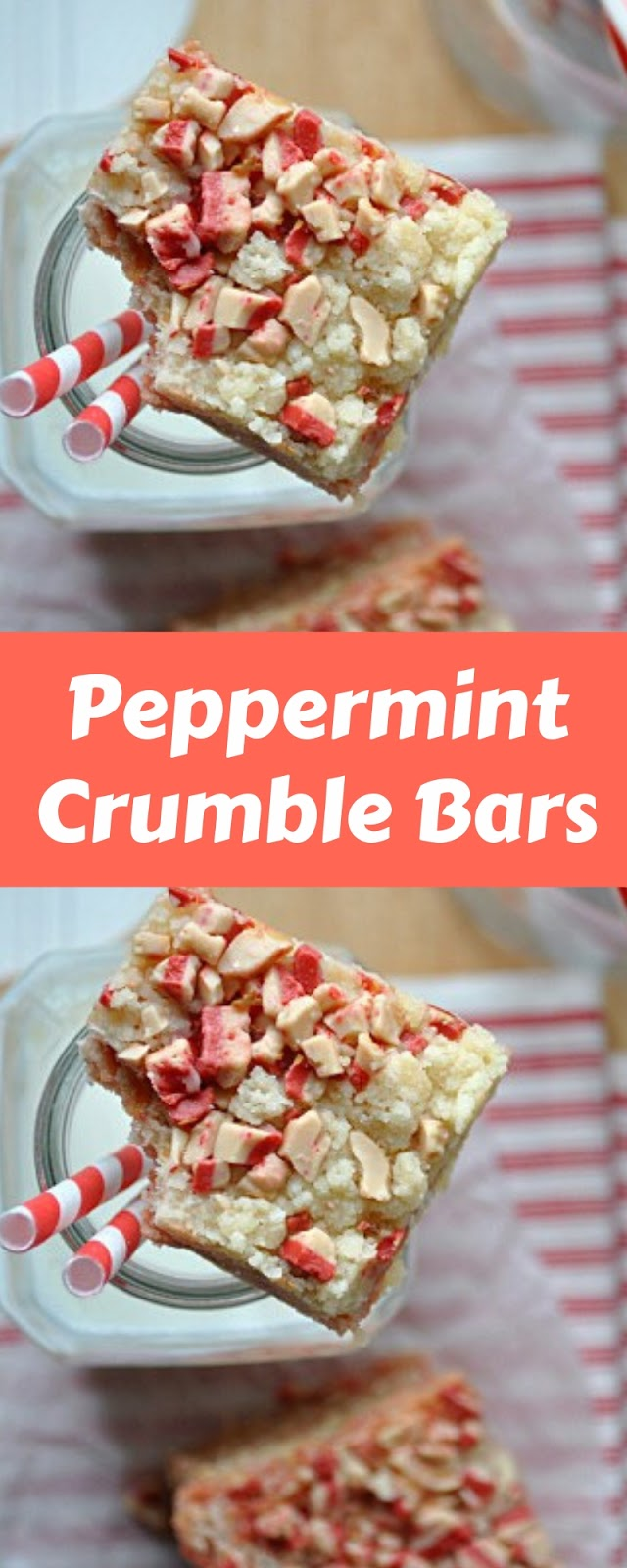 Easy Peppermint Crumble Bars Recipe