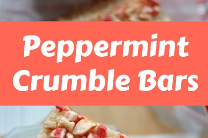 Peppermint Crumble Bars #christmas #snack