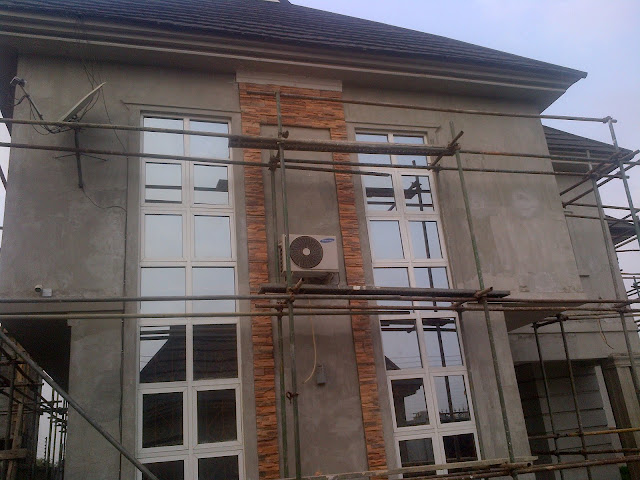 EZ FIT STONES ON A HOUSE IN NIGERIA