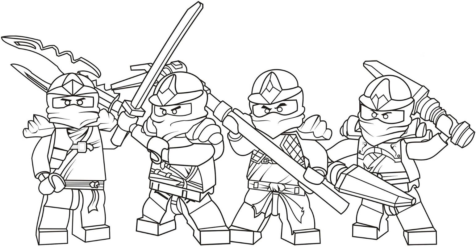 Ausmalbilder Lego Ninja Top Kostenlos Färbung Seite Advents Bilder