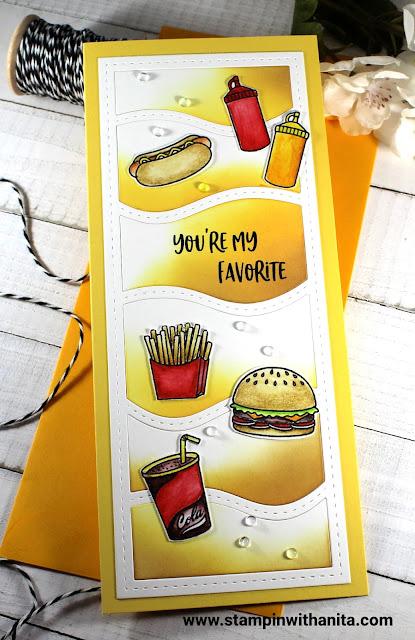 Sunny Studio Stamps: Fast Food Fun Customer Card by Anita Trippi