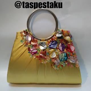 Handmade Tas Pesta Gold Emas Murah Cantik