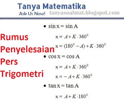 Contoh Soal Dan Penyelesaian Persamaan Trigonometri Bentuk Kuadrat Tanya Soal