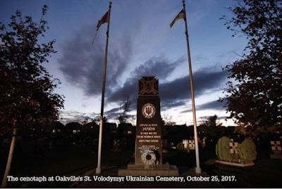 Canada Ukraine Nazi monument Oakville graffiti war crimes genocide collaboration