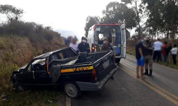 Grave acidente entre Poções e Bom Jesus da Serra deixa um morto e três feridos
