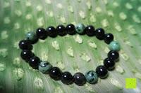 oben: AmorWing 10mm Obsidian und Ruby Zoisit Gebetsarmband vom Einfachen Stil für Damen/Herren